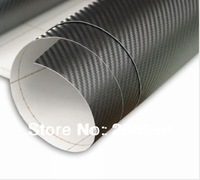 3D Black Carbon Fiber Sticker Vinyl For Car Free Shipping 152cfvwo60m-012