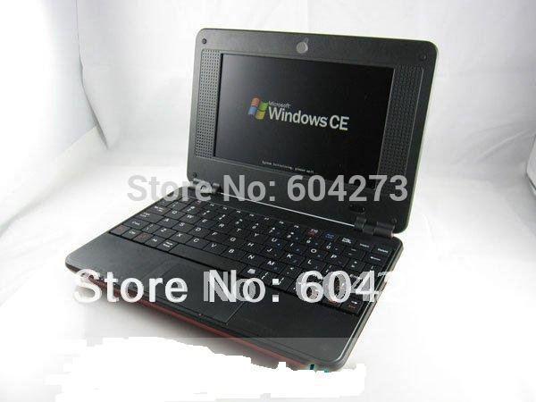 HOT Sell ! 1pcs/lot 7 inch EPC mini laptop WINDOW CE Netbook PC VIA8850 wifi 512MB DDRII more 20 languages netbook(China (Mainland))