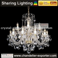 [Sharing Lighting] Gold Supplier 100% Guarantee 24% Lead Bohemian crystal candle Chandelier