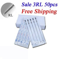 Disposable Tattoo Needles Premade Sterile 3RL Round Liner 50pcs Tattoo Needles Free Shipping