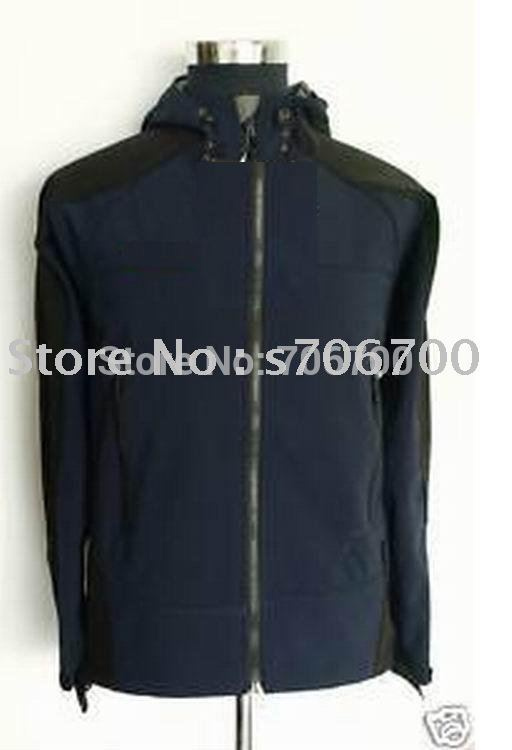 New Men's Hooded Soft Shell Jacket S-XXL(China (Mainland))