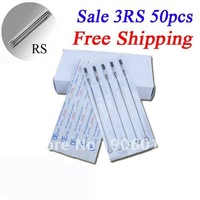 Disposable Tattoo Needles Premade Sterile 3RS Round Shader 50pcs Tattoo Needles Free Shipping