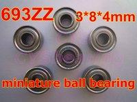 High Quality 693ZZ 693-2Z R-830ZZ W693ZZA 3X8X4 metric miniture shielded deep groove ball bearing