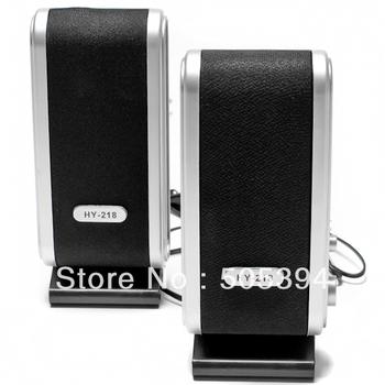 Free shipping 120W USB power laptop Computer Speakers w Ear Jack #9713