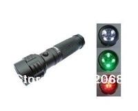 free shipping 5pcs/Lot 11LED RGW Aluminum Flashlight White+Green+Red #145