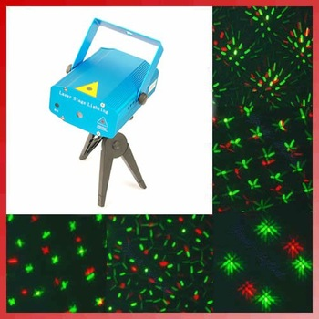 Free Shipping! Mini Projector Holographic Laser Star Stage DJ Lighting