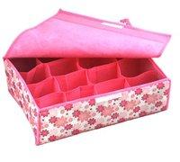 HOT SALE storage bags cases stool underwear storage box Organizer Holder Box Closet BRA storage box with cover 16 lattices