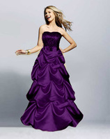 Freeship New Debutante dress,2014 New Style Prom Dresses Evening Gowns Floor Length purple