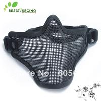 Free shipping! 1pcs Tactical BB Gun TMC Metal Steel Wire Half Face Mesh Airsoft Mask Paintball Khaki/Black