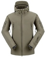 Stealth Hoodie,wholesale,waterproof,hoody,windbreaker jacket,softshell,6colors OD GREEN+Free shipping,EMS