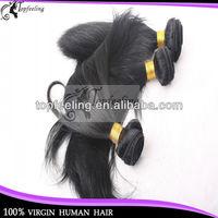 Top quality natural black natural straight 10-30inch 100% queen peruvian hair human hair