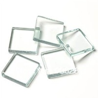 1 Inch clear glass tiles, square blank pendant glass, square glass tile pendants