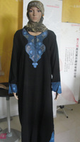 100% guaranteed free shipping,LH &03245,broken flowers pleuche long Muslim abaya,new Product, accept