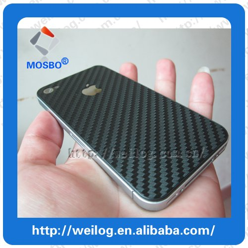Top Quality, 30pcs/lot, Hot 3M Back Carbon Fiber Screen ProtectIive Film for Iphone4/4S Free Shipping(China (Mainland))