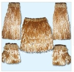 Flame-retardant material Hawaii beach skirt 5pcs set /1grass skirt+2 hands+2 foot leis/Hawaiian wreath/cheer flowers leis props