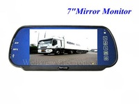 7inch Rear View Car Mirror Monitor with MP5,Touch Buttons,SD Card and USB Interface