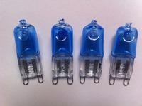 High quality G9 crystal white bulb riot lamp 230V 40W plating blue light