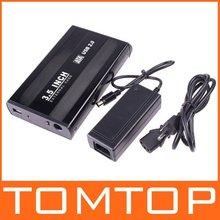 3.5 inch USB 2.0 HDD SATA Hard Disk Drive Enclosure Case Box Storage Devices Free Shipping Wholesale(China (Mainland))