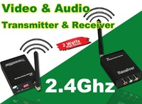2W 2.4G Wireless Video/Audio AV Transmitter & Receiver