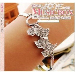 -New!Cute dog alloy Bracelets chains fashion jewelry 80pcs/lot(China (Mainland))