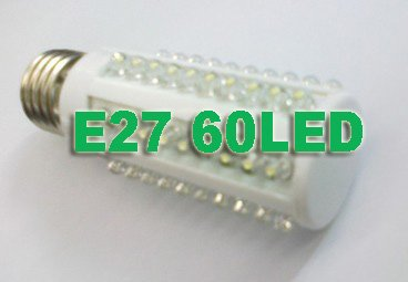 Free Shipping 3W 60LEDs LED corn light LED corn Lamp +replace 30w incandecent All Colors 10pcs/lot(China (Mainland))