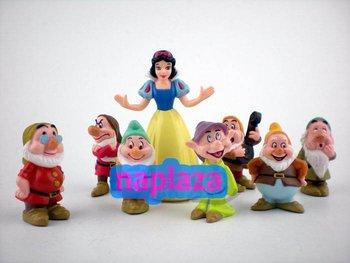 Cute Princess Snow White and the Seven Dwarfs PVC Figure ( 8pcs /set ) Free shipping