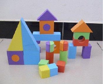 Free shipping 002-Soft Block Play Toy equipment, EVA sponge toy,foam mat,25pcs Big size BLOCKS
