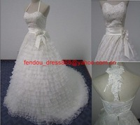 Free shipping new style custom-made backless a-line wedding dress/ fashion wedding gown / bridal dress / bridal gown