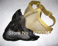 Free shipping! Tactical BB Gun TMC Metal Steel Wire Half Face Mesh Airsoft Mask Paintball Khaki/Black