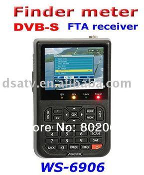 Free shipping New version  Satlink WS-6906 DVB-S FTA Digital Satellite Finder Meter