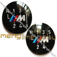 50pcs/Lots 5-Speed 6-Speed M-tech M3 Insert  Shift Gear Knob Badge