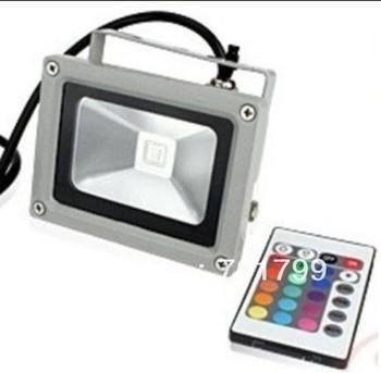 10W RGB flood light, with IR remote controller,AC100-240V input