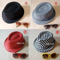 Mix order Fedoras Hats Children's Caps Hat Grid cap For kids Trendy Headgears Fashion Headwear