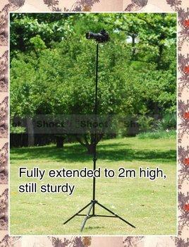 iShoot Professional Protable Photo Studio Strobe Flash Light Stand Tripod 3 Sections 0.75/2m 1/4 Screw