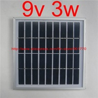 9V 340mA 3W solar panel module solar power panels charge 6v battery polycrystalline solar cell high quanlity free shipping
