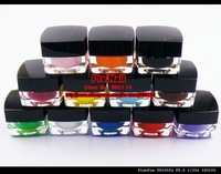 FREE SHIPPING 12 Solid Color Opaque Mix UV Builder Gel Nail Art Set K275