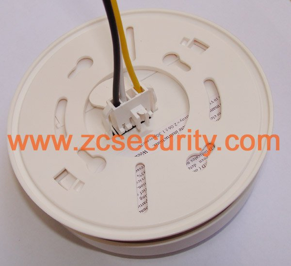 CE met AC smoke alarm with heat sensor + 9V back up battery(China (Mainland))