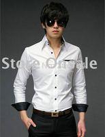 Free Shipping New Mens Casual Shirts Slim Fit Stylish Mens Dress Shirts Long Sleeve Shirts  6042
