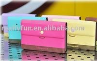 Hot Sale lovable face folding pouch,passport bag, checkbook wallet, Card bag, 6 colors