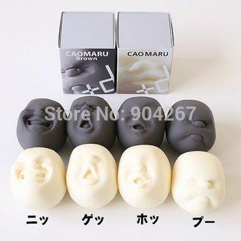 1 Set(4Piece)/lot Novelty Fun Stress Relievers anti-stress face balls gift