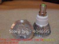 Free shipping+ 10pcs E14 4 * 1W High Power Spot Light / 4W high power LED spotlight white / warm white