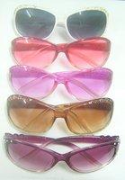 Free shipping 10pcs/lot Mix color Lady Women Fashion UV Protect Sun Sunglasses GL2