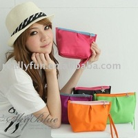 Wholesale High Fashion PVC Fabric Wallet/ Cosmetic Bags,beauty bags, Lady's Fashion bags