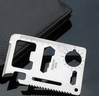 50 pcs lot 11 in 1 Multi Tool Card Emergency Survival pocket Knife Camping tool portable mini