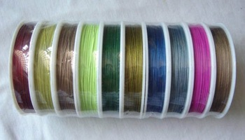 30rolls 100M mixed color tiger tail beading wire 0.38mm