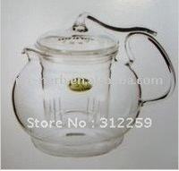 Free shipping one pc high borosilicate teapot,clean glass teapot+Free gift (2pcs blooming tea)