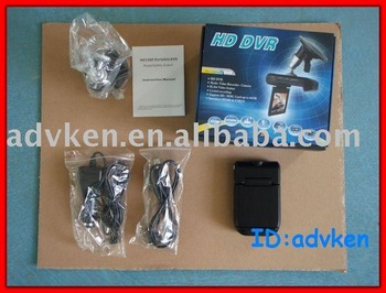 Free Shipping by DHL or EMS Car DVR with 2.5 Inch LCD (640*480, 140 degrees View Angle, SD)