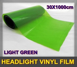 Newly 30x1000cm/10m Light Green Tint Headlight Vinyl Film Wrap(China (Mainland))