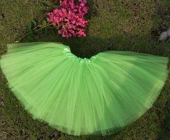 free shipping wholesale 3layer tulle neon tutus ballet dance skirt