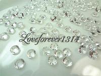 10000pcs (10000 pcs=10 pack) 1/3 Carat (4.5mm) CLEAR WHITE Diamond Confetti Wedding Party Favor Favour Supplies Decoration